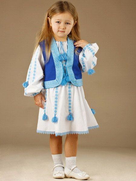 Ukrainian Children's costume embroidery.  Vyshyvanka by Ukrshop
