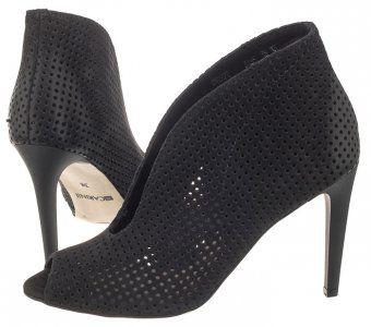 Buty Damskie Botki Carinii B3465m Czarne Azurowe 6365759880 Oficjalne Archiwum Allegro Heels Shoes Peep Toe