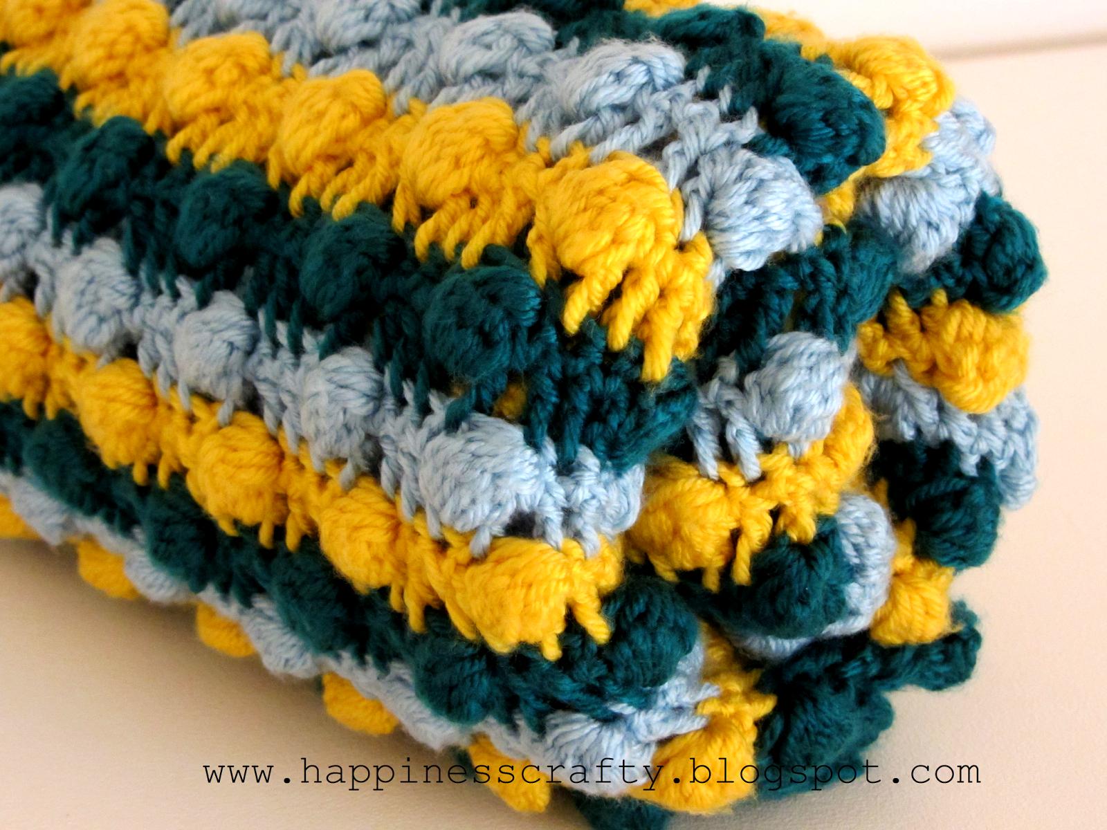 Crochet Baby Bobble Blanket ~ Free Pattern