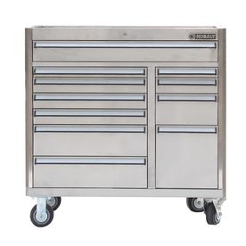 Shop Kobalt 34 4 In X 41 In 11 Drawer Ball Bearing Stainless Steel Tool Cabinet Stainless Steel A Stainless Steel Tool Chest Stainless Steel Tools Tool Cabinet