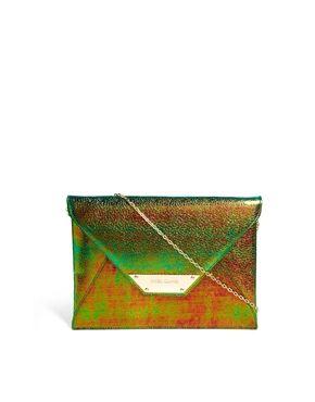 c83f56723e66 River Island Blue Iridescent Envelope Clutch Bag | Zapatos y Bolsos ...