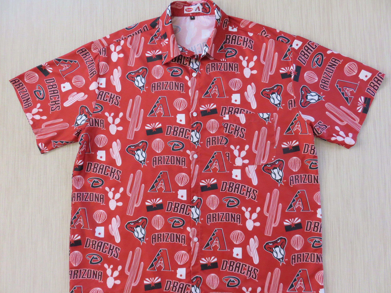 a16aaf56 Arizona Diamondbacks Hawaiian Shirt TYSON Chicken Giveaway Shirt MLB  Baseball World Series Vintage Aloha Shirt - XL - Oahu Lew's Shirt Shack