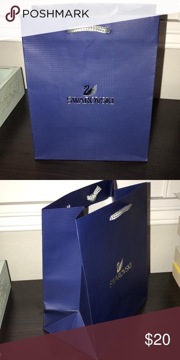 dd7bf052ae7 SWAROVSKI Bag 💙🛍 SWAROVSKI Small Shopping Bag 🛍💙 8 x 6 inches Perfect  condition 💟💕 Swarovski Bags