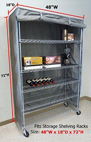Storage Shelving Unit Cover Fits Racks 48 Wx18 Dx72 H C Https Www Amazon Com Dp B01a7ghyms Ref Cm Sw R Pi Awdb Storage Shelves Shelving Outdoor Shelves