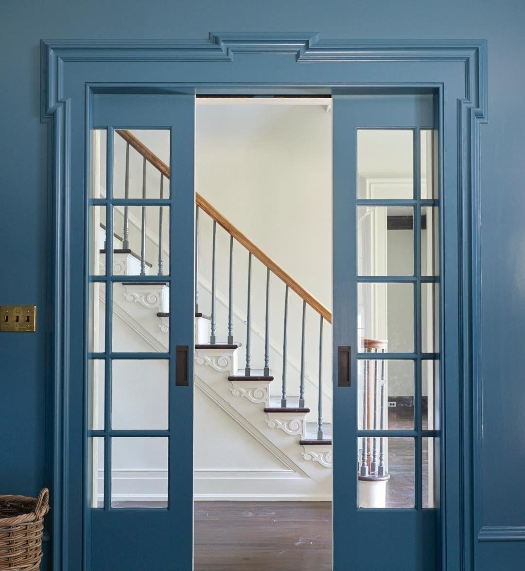 Benjamin Moore Bella Blue Painted Walls Interior Paint Color Scheme