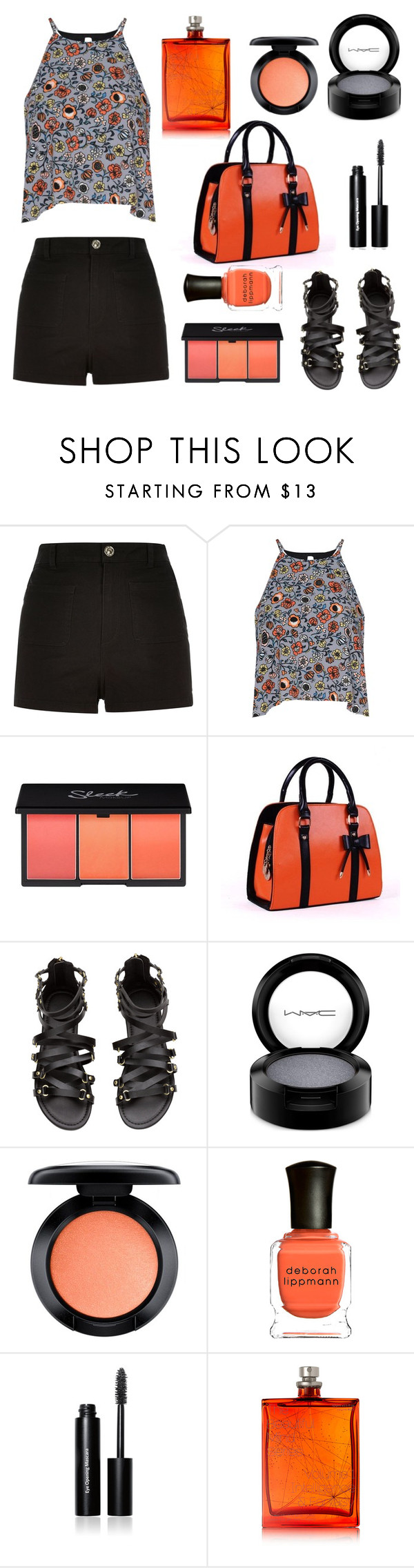 """""""Black and new black..."""" by confusioninme ❤ liked on Polyvore featuring River Island, Glamorous, MAC Cosmetics, Deborah Lippmann, Bobbi Brown Cosmetics and The Beautiful Mind Series"""