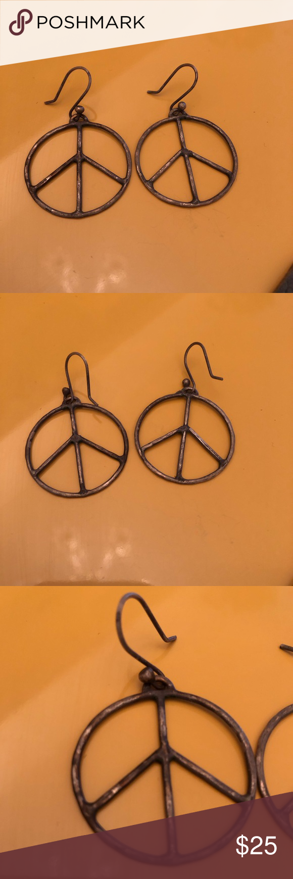 Download 3/$10 Oversized Peace Sign Earrings | Peace sign, Ear ...