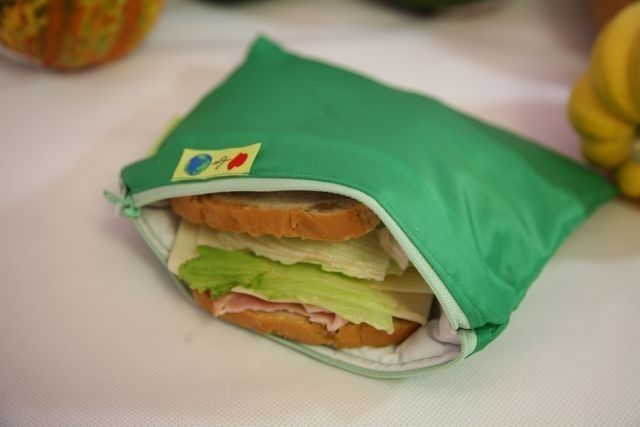 Zip Insulated Sandwich Bag Reusable Eco Friendly Pick Your Color Can Get Snack Size And