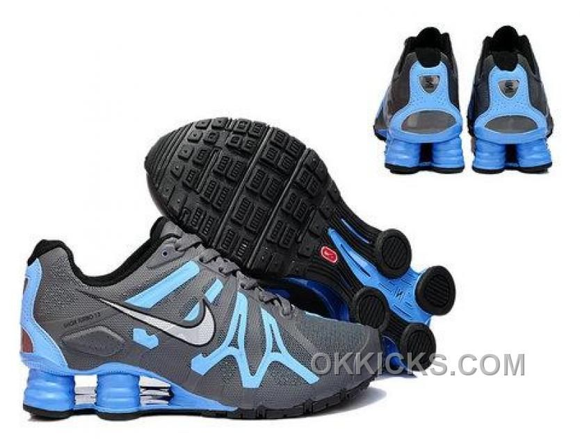 New Nike Shox Turbo13 Shoes Black Grey Blue
