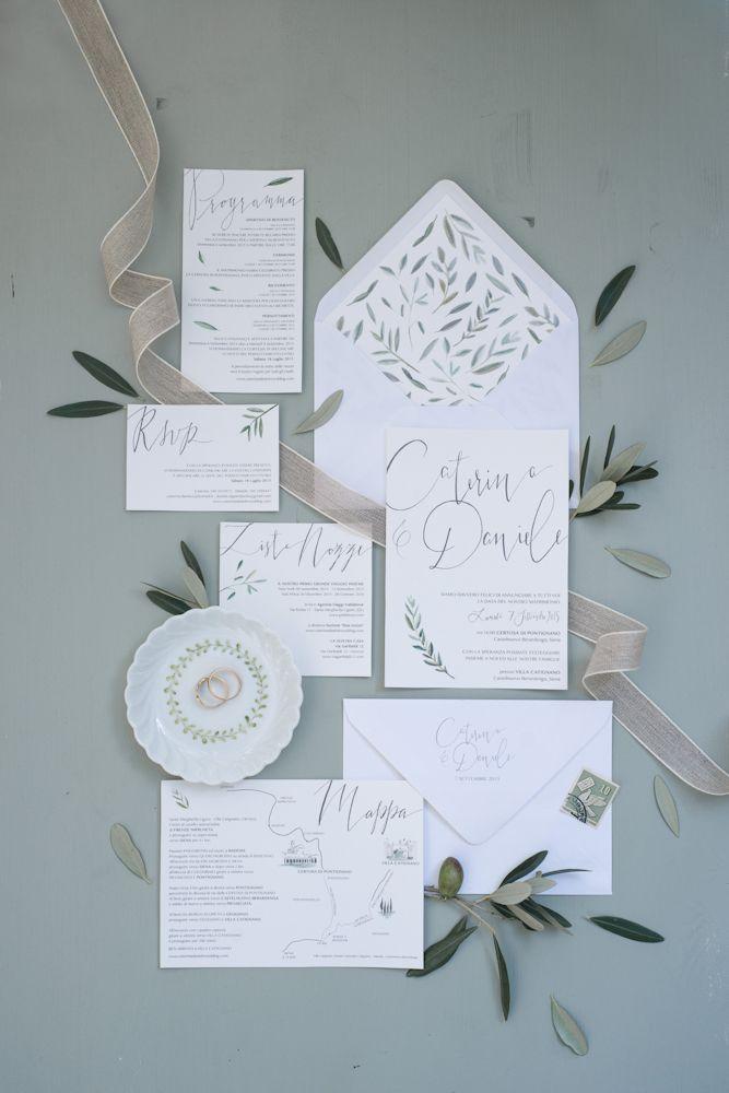 Busta Matrimonio Toscana : Ulivo inviti matrimonio fedi toscana matrimonio rustico