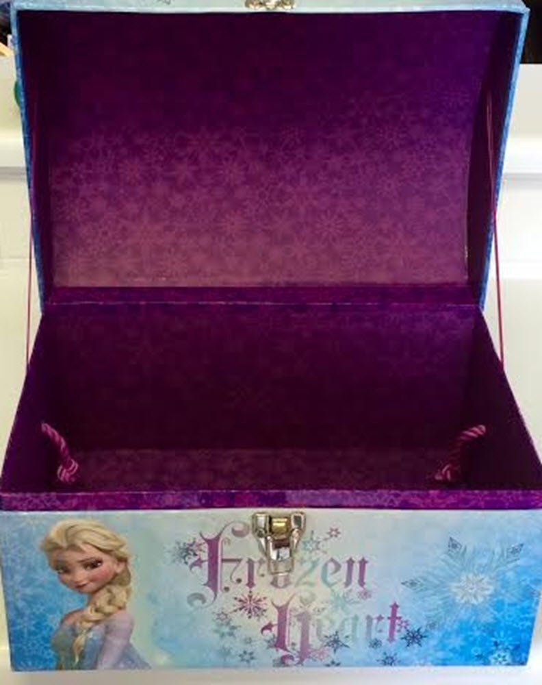 Amazon.com: Disney Frozen Elsa Toy Box Trunk Filled with Elsa Dress and Elsa Light up Tiara Dress Up Costume Toy Box Frozen Elsa Doll Accessories Case Role Play Anna Olaf: Toys & Games