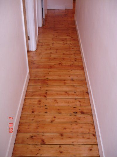 Hallway Floor Sanding After Flooring Wood Floor Restoration
