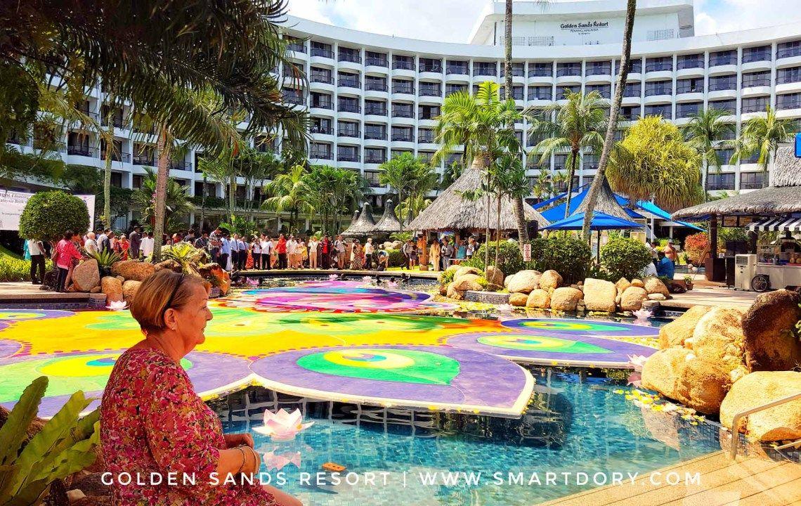 Biggest Floating Kolam Artwork Golden Sands Resort Penang Sands Resort Penang Resort