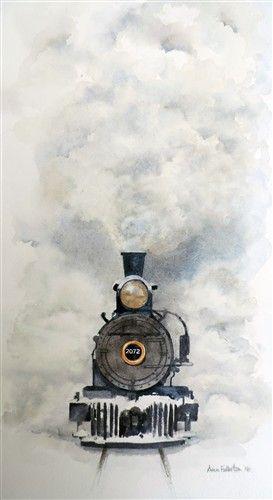 Steam Train Dessin Train Peinture Aquarelle