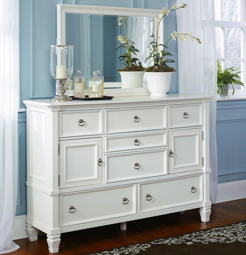 Awesome White Dressers Mirror Unique Design