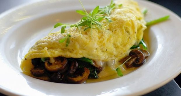 How to make a Mushroom Spinach Omelet - French recipe - Recipes 125