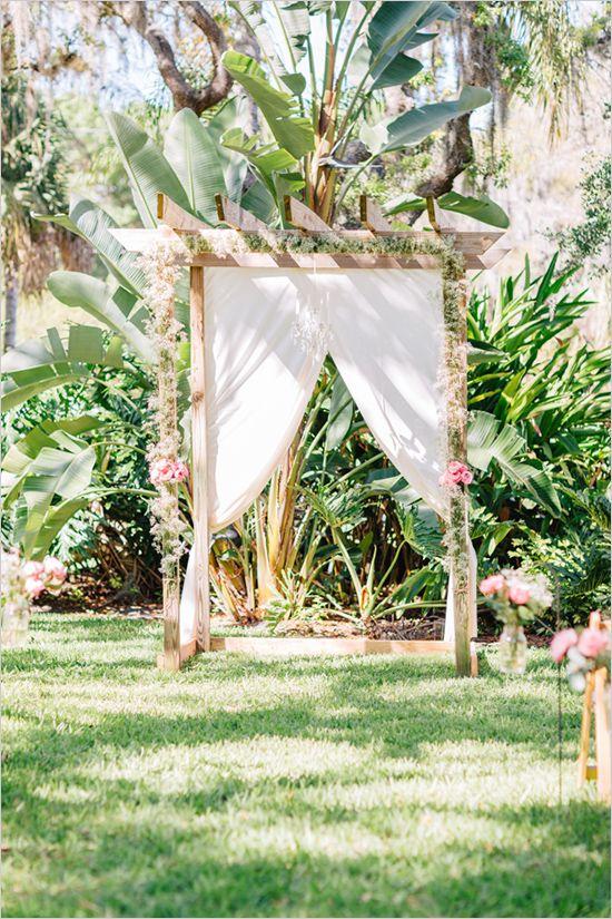A DIY Wedding To Remember | Babies breath, Backdrops and DIY wedding