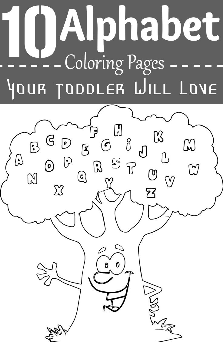 50 Alphabet Coloring Pages Your Toddler Will Love   Printable ...