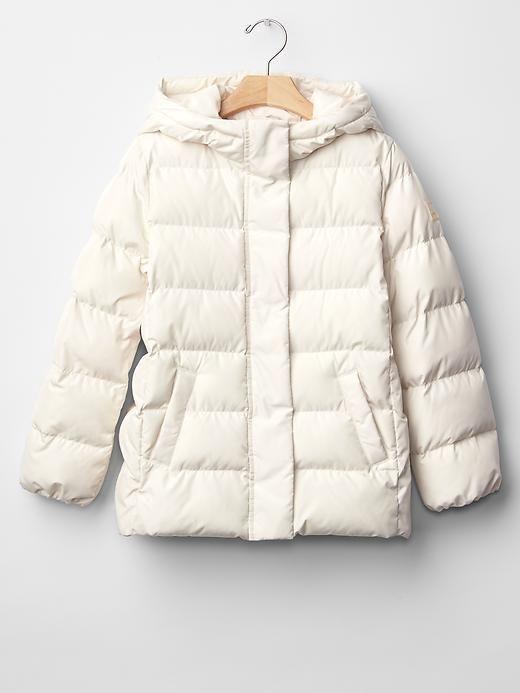 Girl Puffer Winter Jacket Ivory Lightweight PrimaLoft GAP ...