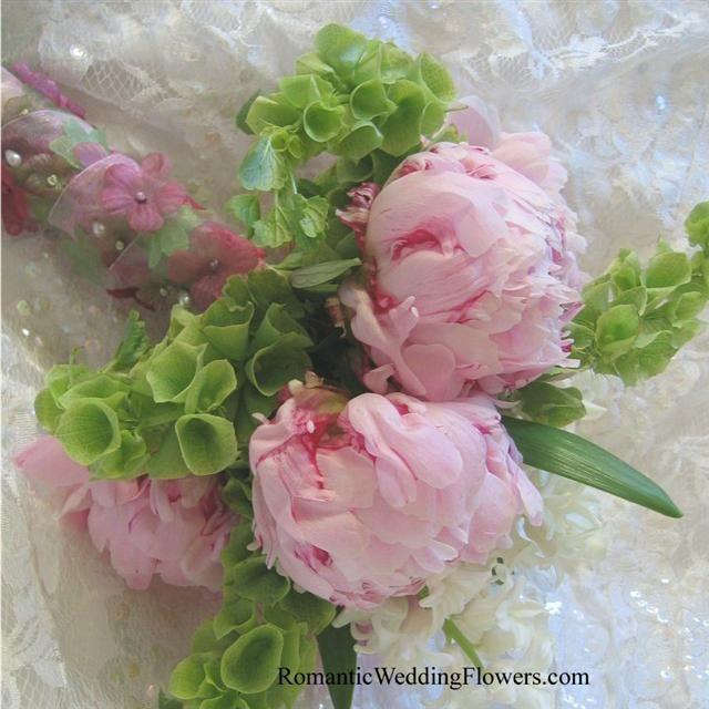 Peony Bells Of Ireland And Hyacinth Bouquet Botanical Wedding Flowers Flower Bouquet Wedding Simple Bridal Bouquets