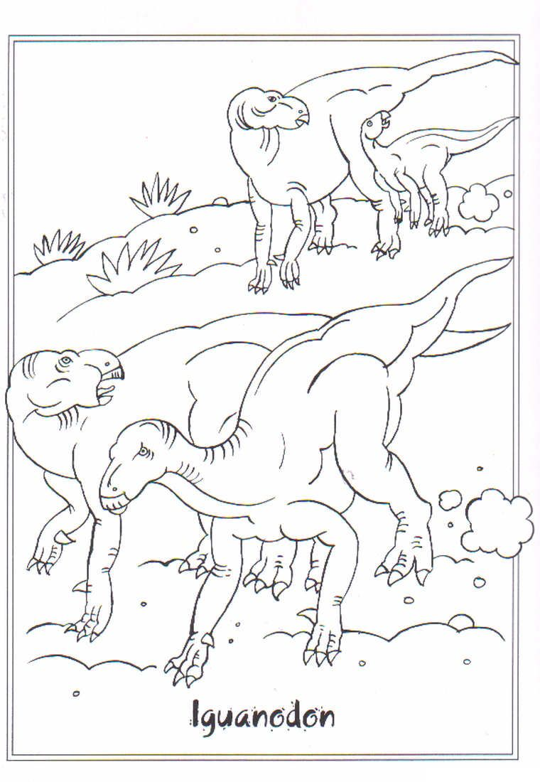 coloring page dinosaurs 2 iguanodon