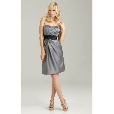 [ $82.99 ]Glamorous Soft-ruched Belted Satin Bridesmaid Dress