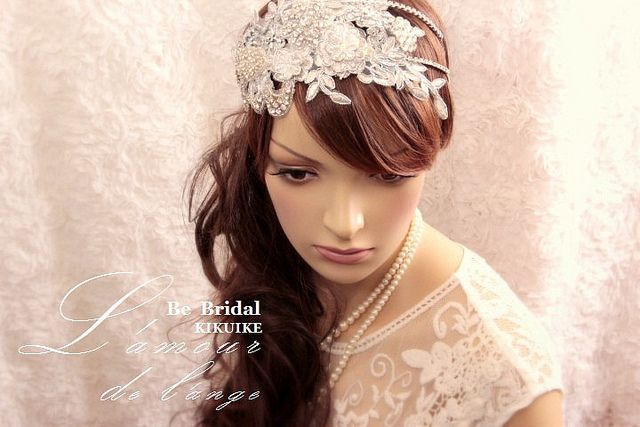 Bridal headband, rhinestone and crystal, bridal hair - Glimmering rhinestone headband by charles fukuyama, via Flickr