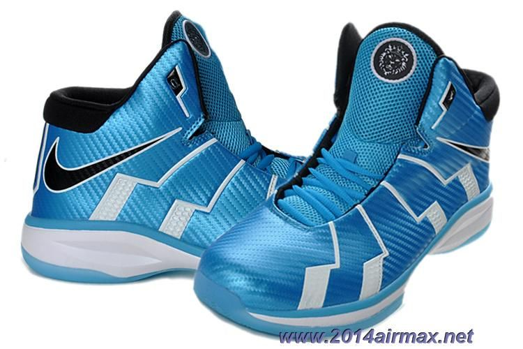 836725704c87 Sky Blue Black White Nike Zoom Lebron 10.8 Online