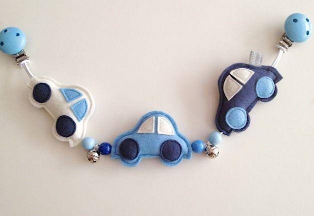 kinderwagenketten kinderwagenkette aus filz 39 autos. Black Bedroom Furniture Sets. Home Design Ideas