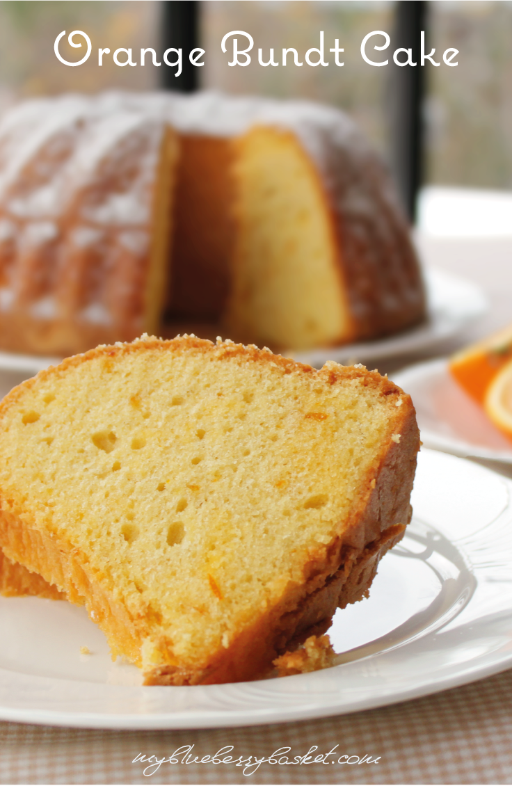 Orange Bundt Cake. The cake is so moist and deliciously fluffy. It gets drizzled with freshly squeezed orange juice right after baking. This creates this heavenly taste.