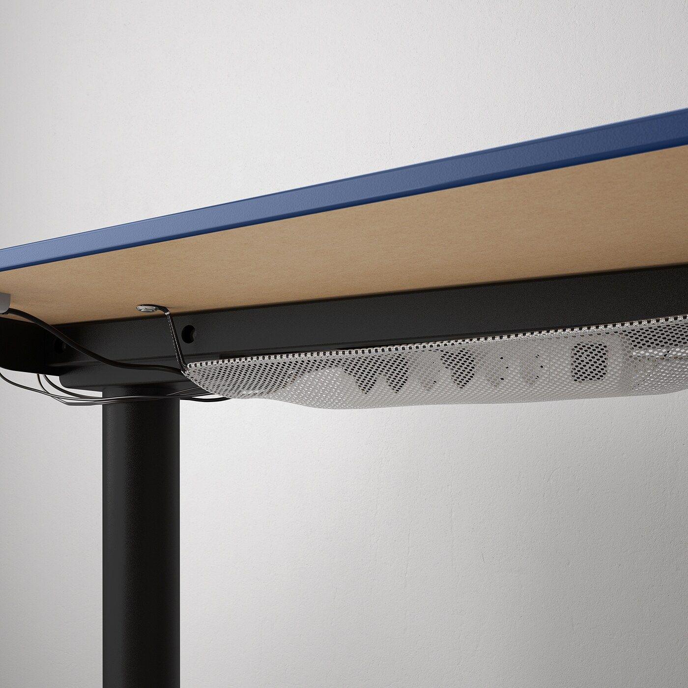 Bekant Ecktisch Rechts Sitz Steh Linoleum Blau Schwarz In 2020 Ecktisch Ikea Ecktisch Und Aufgeraumter Schreibtisch