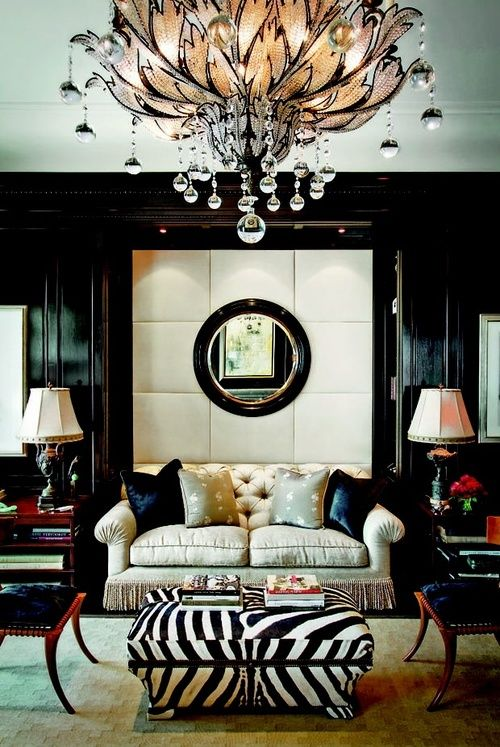 Urban, chic....in LOVE with this chandelier!