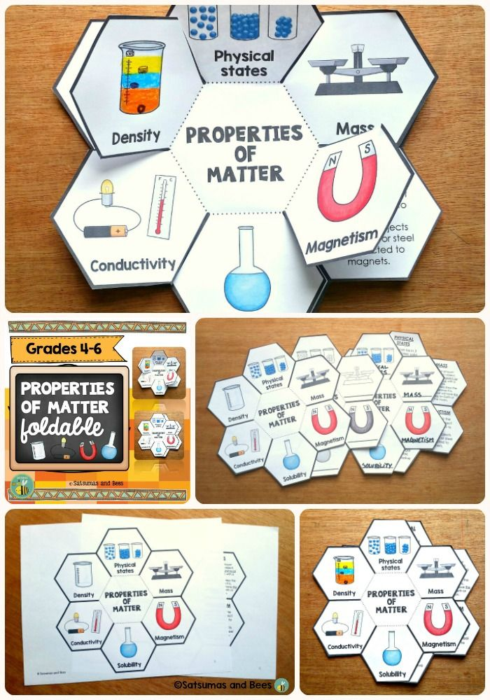 properties of matter interactive science notebook foldable tpt