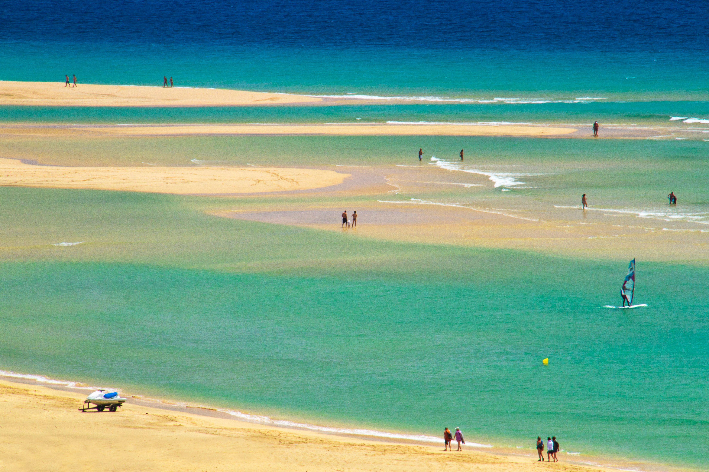 Playa de sotavento Jandia . fuerteventura