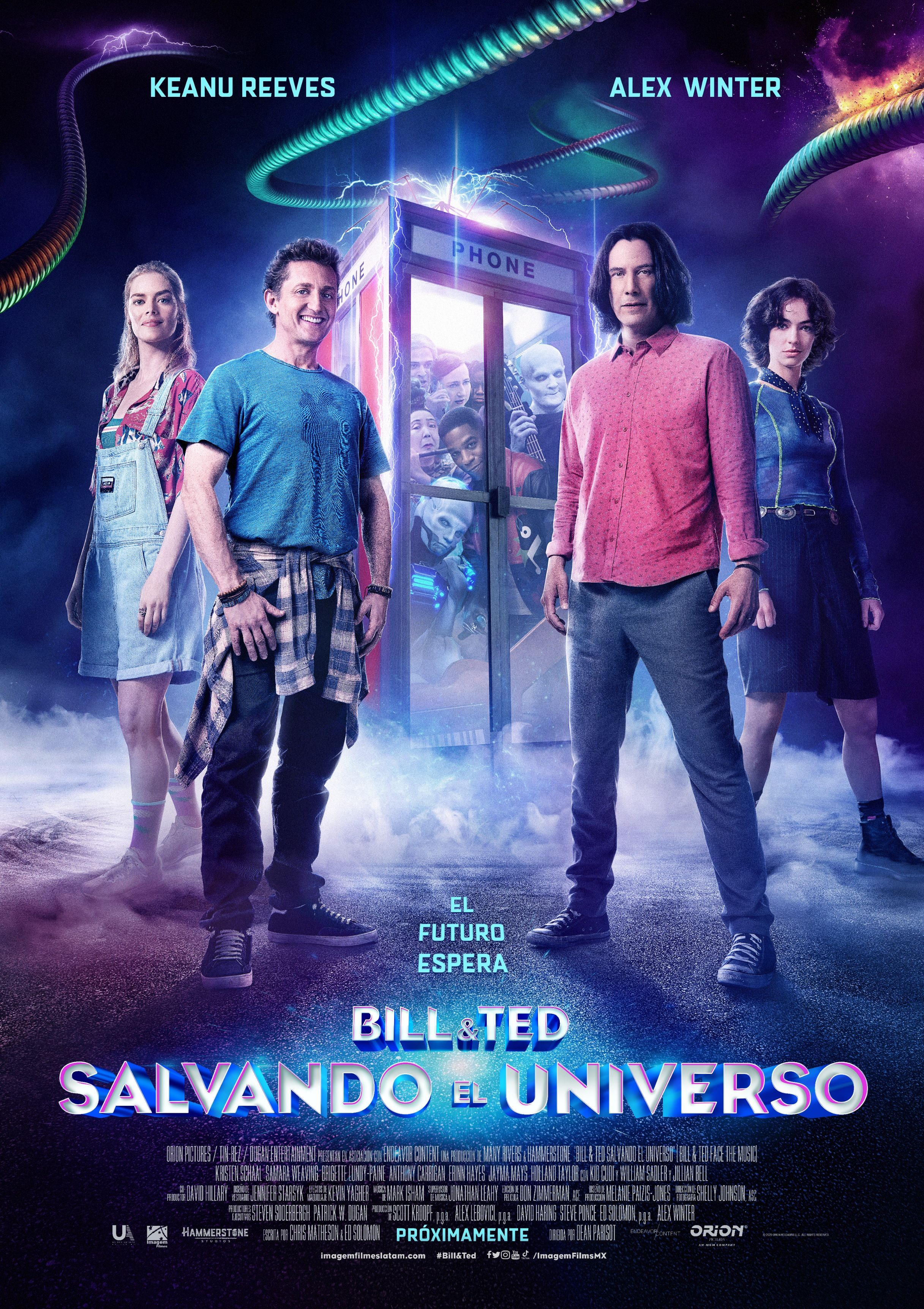 Bill Ted Salvando El Universo Poster Oficial Face The Music Keanu Reeves Alex Winter