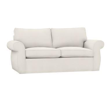 Pearce Roll Arm Sleeper Sofa Slipcover Denim Warm White