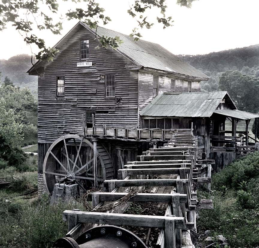 Older Picture Of White S Mill In Abingdon Va Before Renovation Water Wheel Water Mill Country Barns