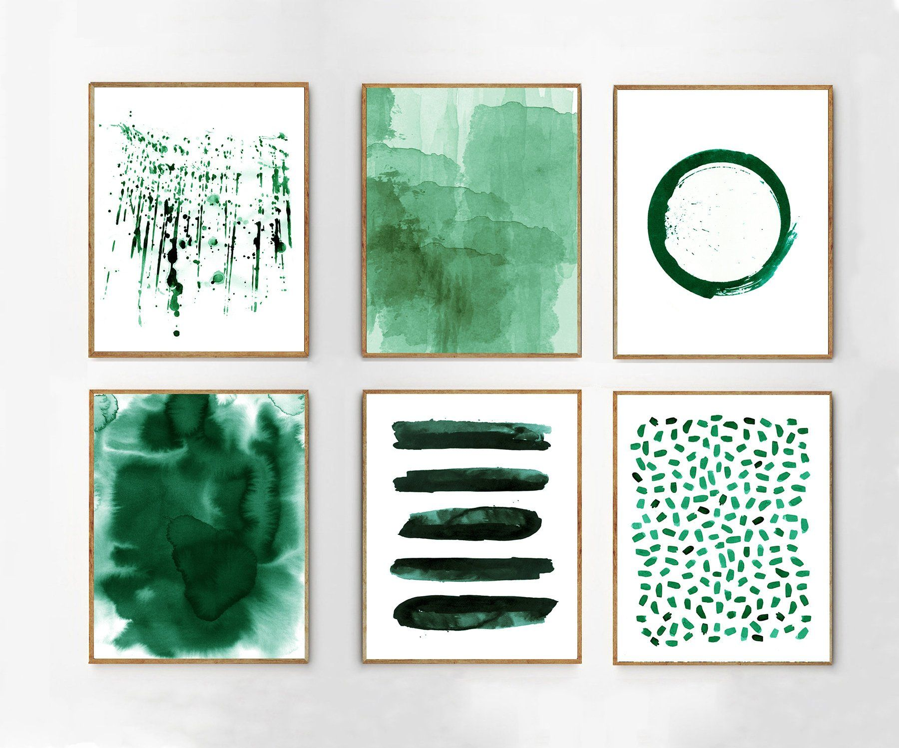 Large Wall Art Emerald Green Abstract Watercolor Paintings Etsy Minimalist Art Abstract Green Art Green Wall Art