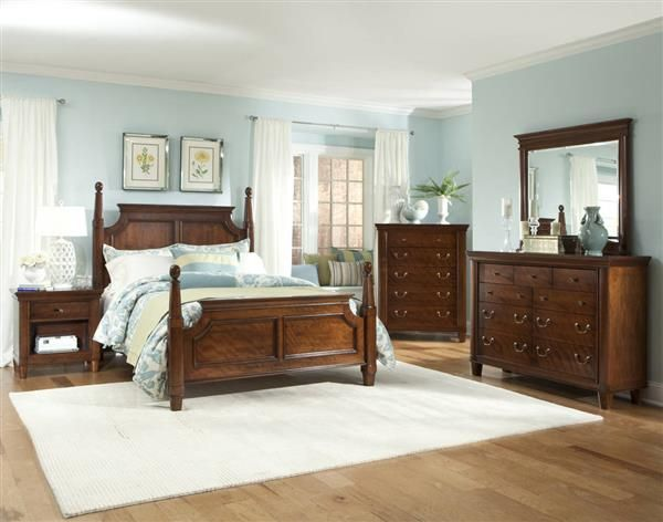 Best Richmond Traditional Mahogany 5Pc Bedroom Set W Queen 400 x 300