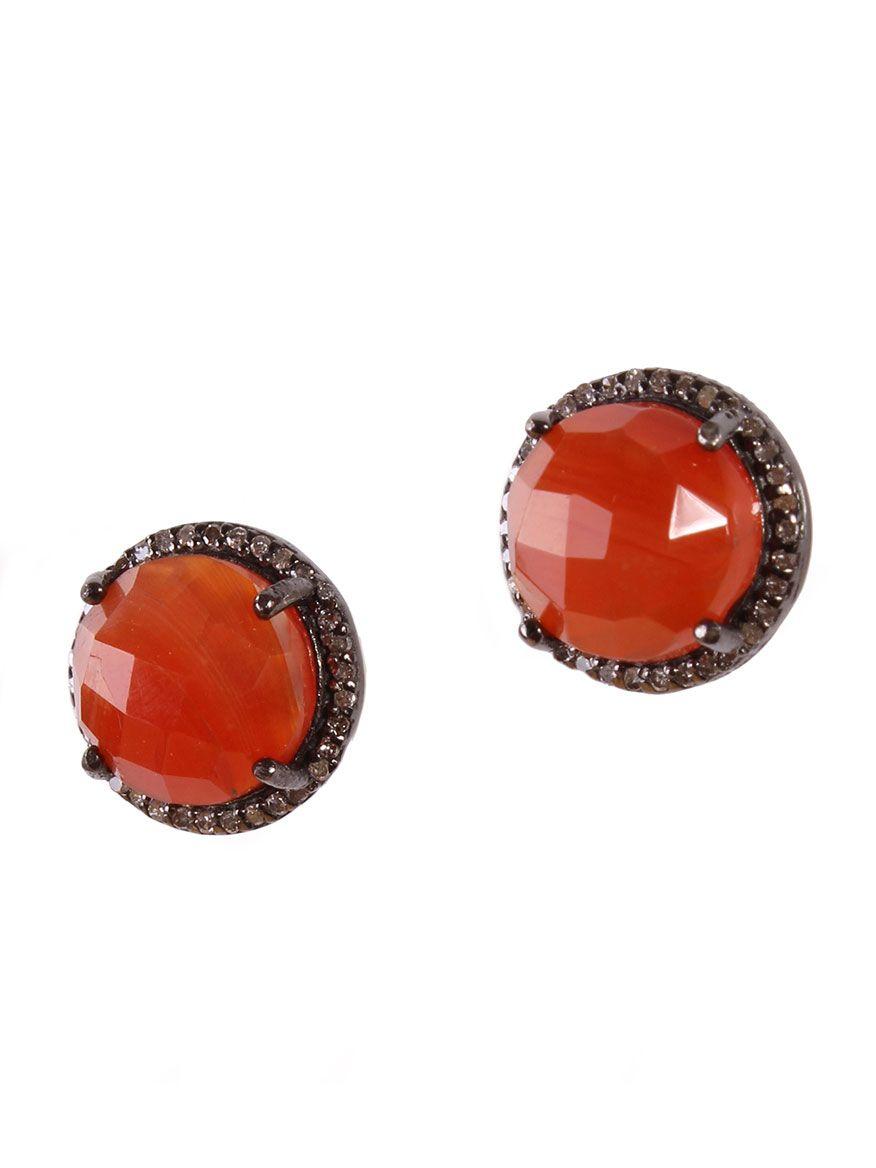 Margo Morrison Faceted Green Onyx & Diamond Earrings rd59scmTu