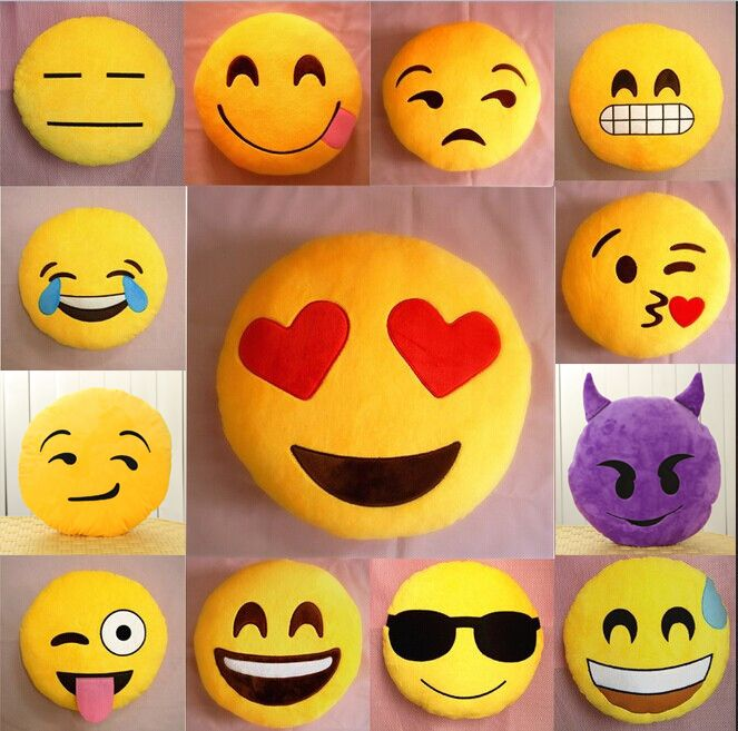 Emoji Cuscini.Economico Sveglio Molle Emoji Smiley Emoticon Giallo Rotondo