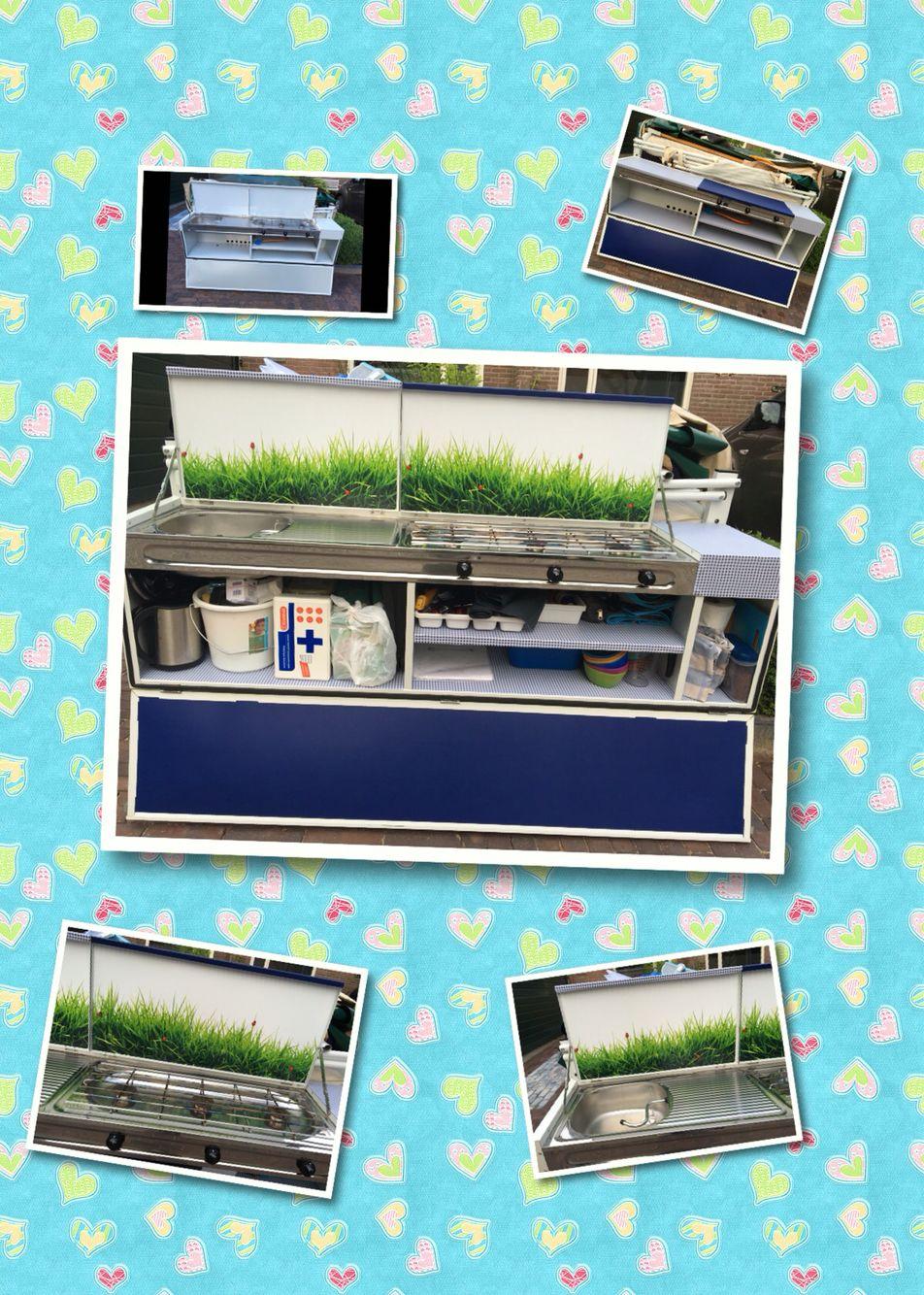 Keuken van de vouwwagen gepimpt met plakplastic for Keuken handigheidjes