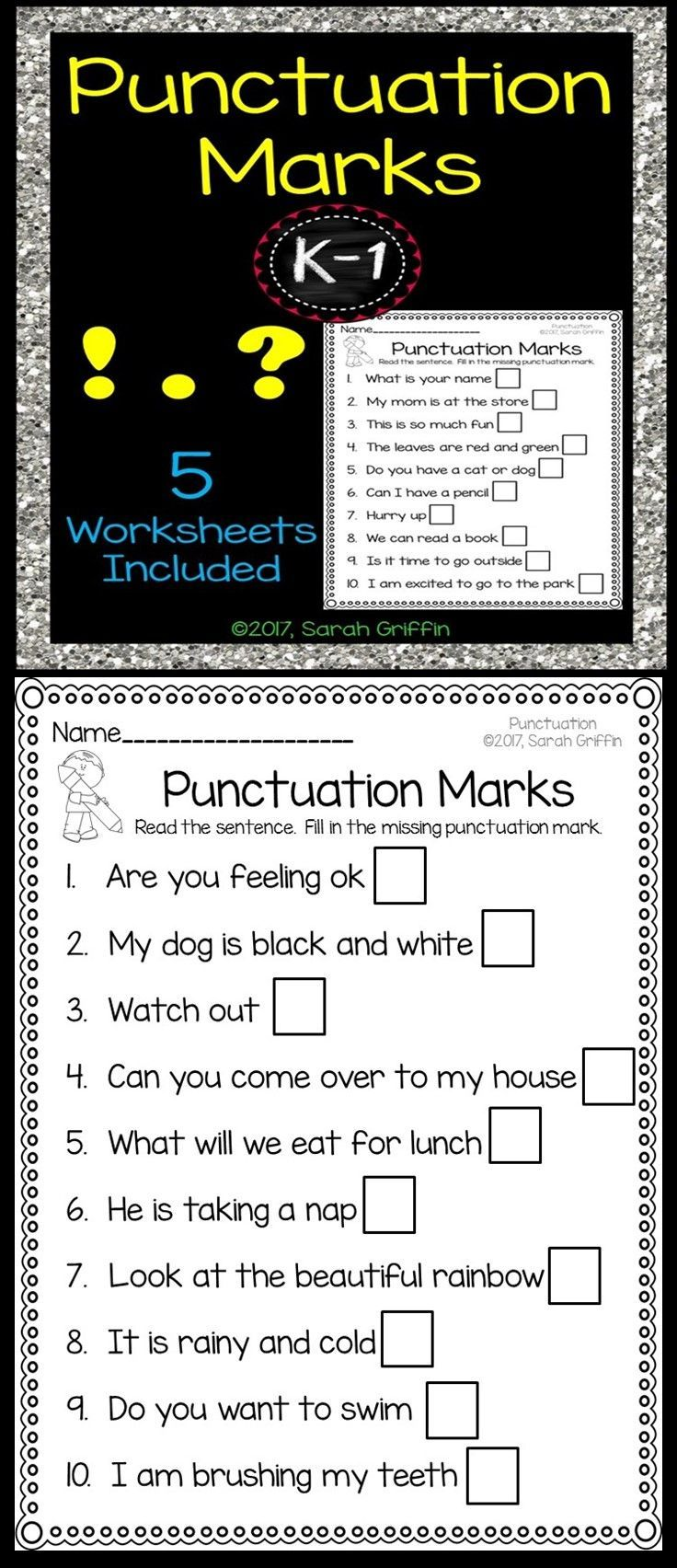 Punctuation Marks Worksheets   Period [ 1704 x 736 Pixel ]