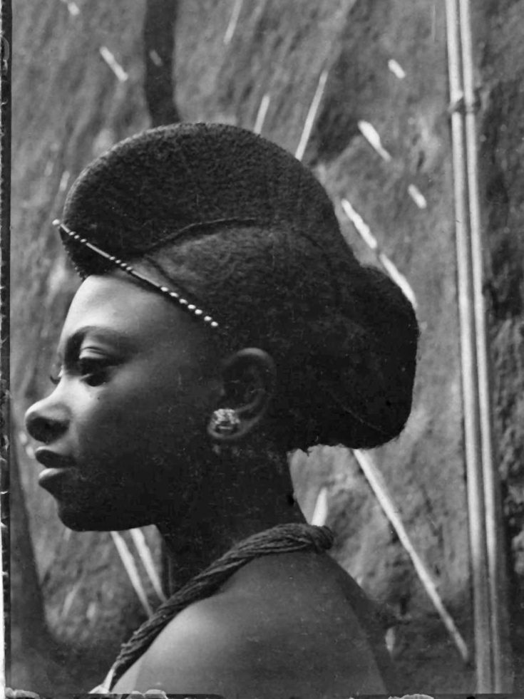 "Africa | ""Martha Munga, a daughter of the King."" Bamum people.  Foumban, Cameroon. c. 1911/1915 