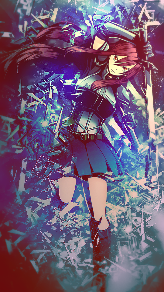 Erza Scarlet Wallpaper For Mobile Phones By Xoceansoul