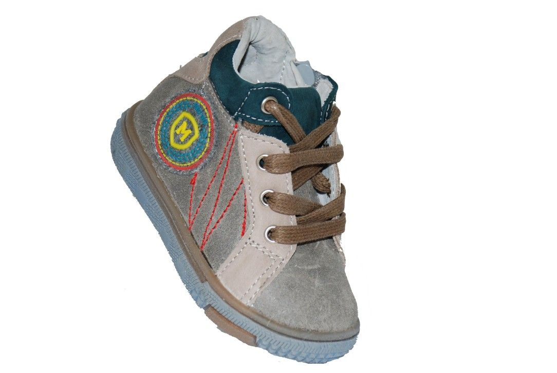 c088317598b #children #footwear Μποτάκι Mούγερ για τα πρώτα βήματα, δερμάτινο, μπεζ με  κορδόνια