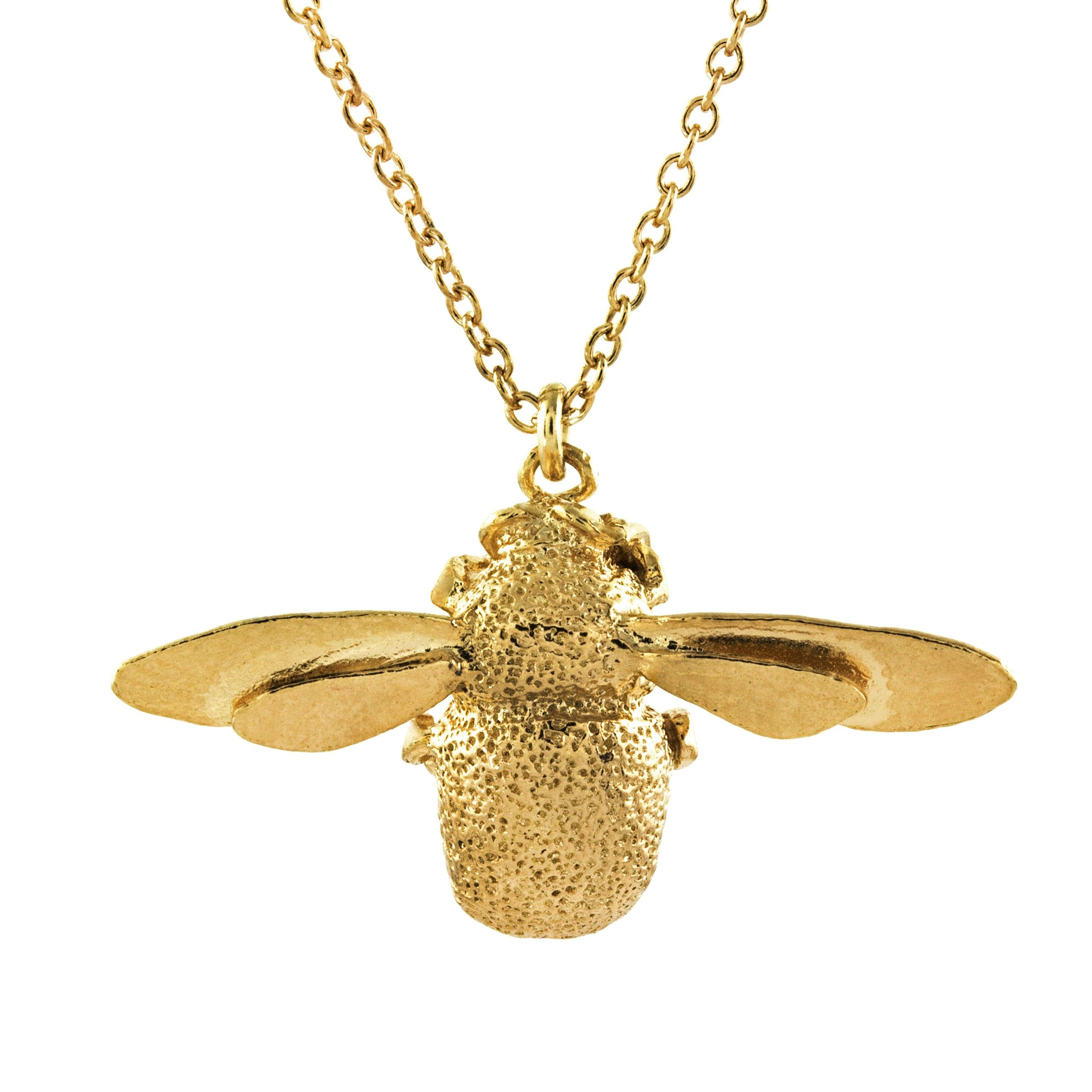 products close honey necklace bee cocomi pendant olivia gold burtonhoneycomb honeycomb up rose