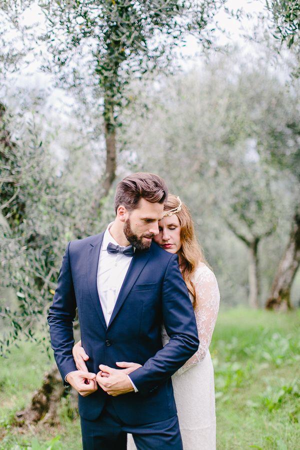 Anzug Marineblau Mit Fliege Brautigam Stil Pinterest Wedding