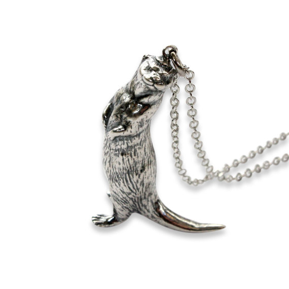 Silver otter necklace otter pendant 400 by mrd74 on etsy rock star silver otter necklace otter pendant 400 by mrd74 on etsy aloadofball Images