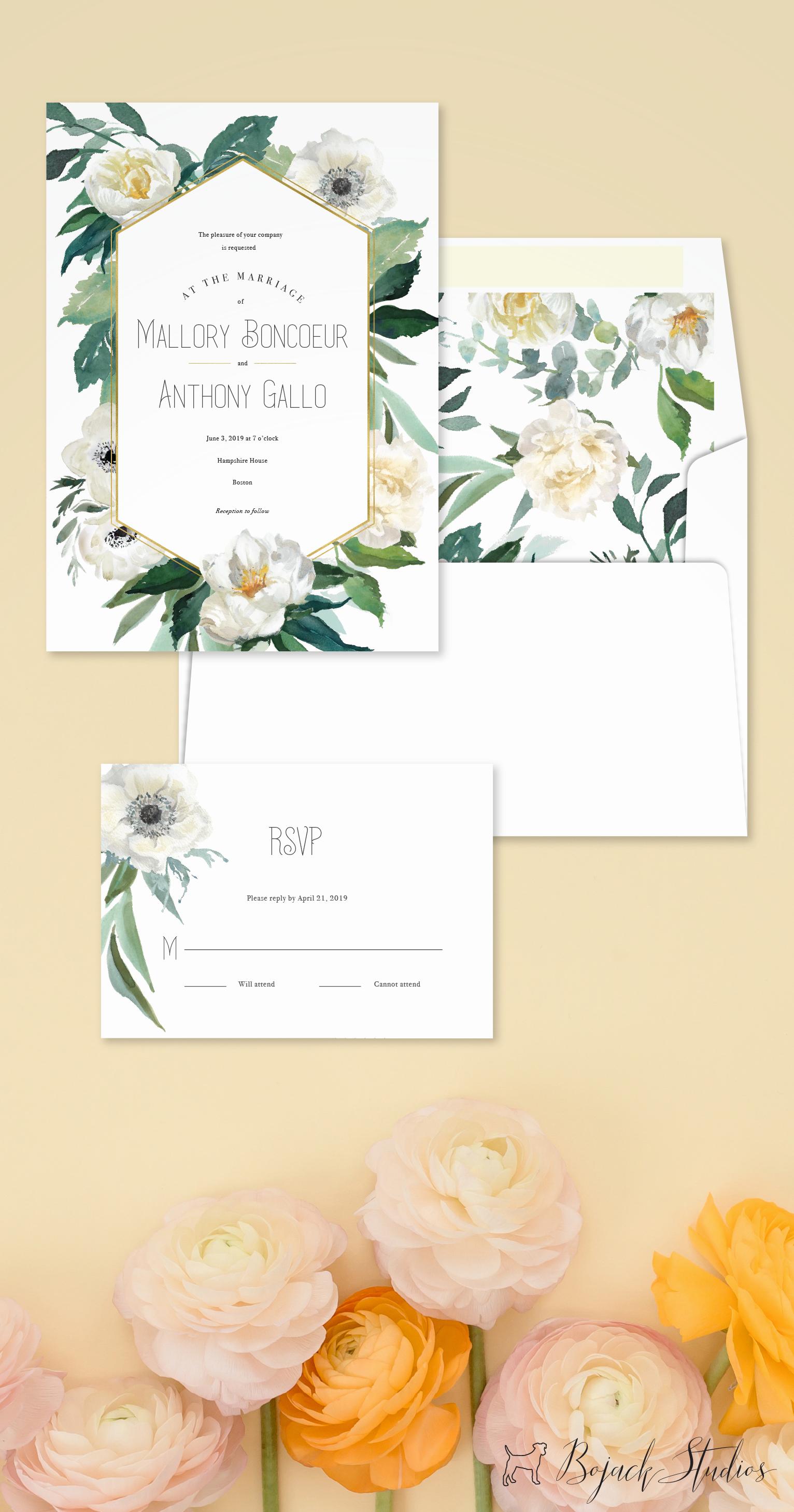 Wedding Decor Stationery Save The Date Invitation Suite Envelope